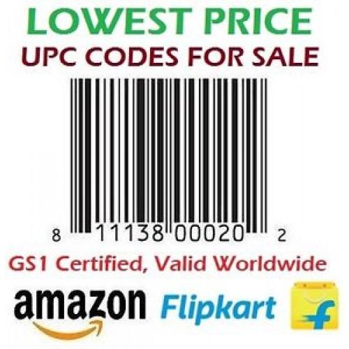 1000 UPC/ EAN Certified Bar-Code For Listing On ECommerce