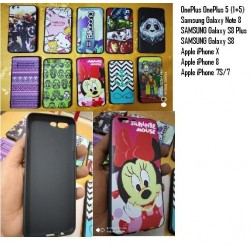 Cartoon Printed Rubber Back Case Rs.10 per pc