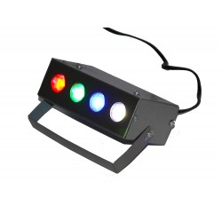 Mini Laser Projector Cum Par Light 4 LED Stage Lighting Laser Light for Party and DJ