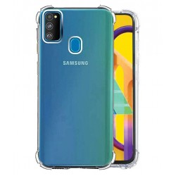 Kelpuj BumperCorner Soft Silicon Shockproof Flexible Rubber Back Case Cover for Samsung Galaxy M30S