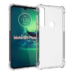 Kelpuj BumperCorner Soft Silicon Shockproof Flexible Rubber Back Case Cover for Motorola G8 Plus