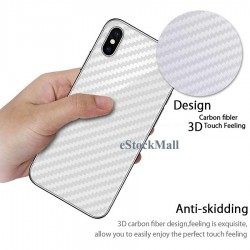 Ultra Thin Slim Transparent 3D Carbon Fiber Rear Skin Back Screen Guard Sticker for Apple iphone 4/4S