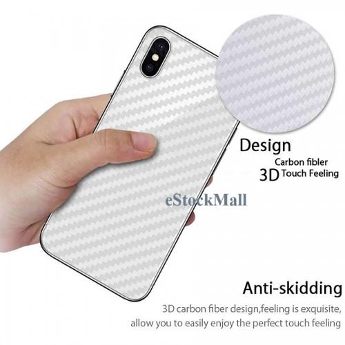 Ultra Thin Slim Transparent 3D Carbon Fiber Rear Skin Back Screen Guard Sticker for Mi Redmi 8