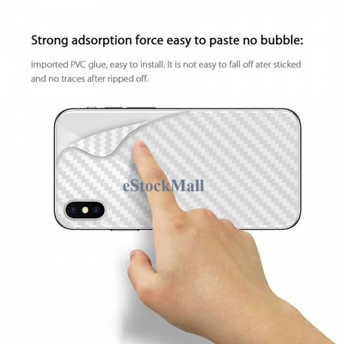 Ultra Thin Slim Transparent 3D Carbon Fiber Rear Skin Back Screen Guard Sticker for Motorola One Vision