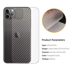 Ultra Thin Slim Transparent 3D Carbon Fiber Rear Skin Back Screen Guard Sticker for Apple iphone 11