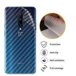 Ultra Thin Slim Transparent 3D Carbon Fiber Rear Skin Back Screen Guard Sticker for OnePlus 7T