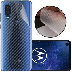 Ultra Thin Slim Transparent 3D Carbon Fiber Rear Skin Back Screen Guard Sticker for Motorola moto One Power