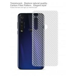 Ultra Thin Slim Transparent 3D Carbon Fiber Rear Skin Back Screen Guard Sticker for Motorola G8 Plus