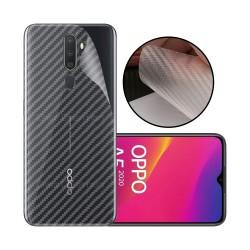 Ultra Thin Slim Transparent 3D Carbon Fiber Rear Skin Back Screen Guard Sticker for Oppo A5S
