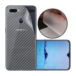 Ultra Thin Slim Transparent 3D Carbon Fiber Rear Skin Back Screen Guard Sticker for Oppo F9