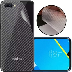 Ultra Thin Slim Transparent 3D Carbon Fiber Rear Skin Back Screen Guard Sticker for Realme C2