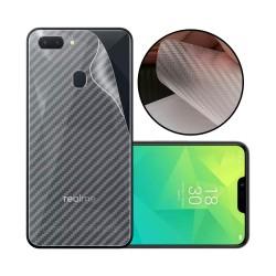 Ultra Thin Slim Transparent 3D Carbon Fiber Rear Skin Back Screen Guard Sticker for Realme U1