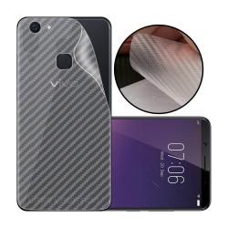 Ultra Thin Slim Transparent 3D Carbon Fiber Rear Skin Back Screen Guard Sticker for Vivo V7 Plus