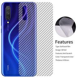 Ultra Thin Slim Transparent 3D Carbon Fiber Rear Skin Back Screen Guard Sticker for Vivo Z1X