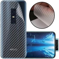 Ultra Thin Slim Transparent 3D Carbon Fiber Rear Skin Back Screen Guard Sticker for Vivo V17 pro