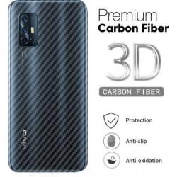 Ultra Thin Slim Transparent 3D Carbon Fiber Rear Skin Back Screen Guard Sticker for Vivo V17
