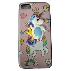 3D Toy Cartoon with Printed Rubber slim Back case for Apple iPhone 7/7G/8(Design 1)