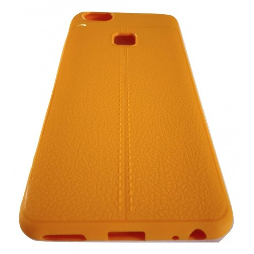 AutoFocus Rubber Back Case Cover for Vivo V7+ Plus - Orange
