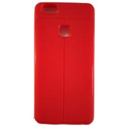 AutoFocus Rubber Back Case Cover for Vivo V7 -Red