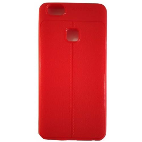 AutoFocus Rubber Back Case Cover for Vivo V7+ Plus - Red