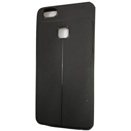 AutoFocus Rubber Back Case Cover for Vivo V7+ Plus - Black