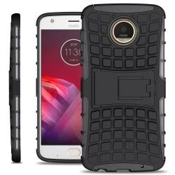 Shockproof Hybrid Kickstand Back Case Defender Cover for Motorola Moto Z2 Play