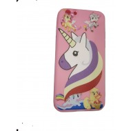 Cartoon Printed Rubber Back Case for Oppo A83 - Horse Pink