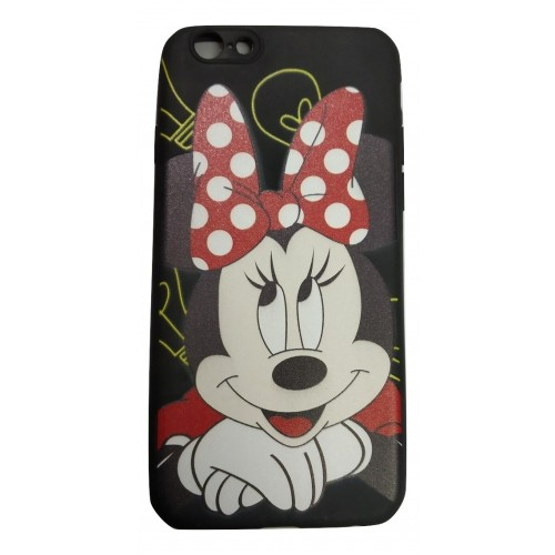 Cartoon Printed Rubber Back Case for Oppo A83 - Mickey
